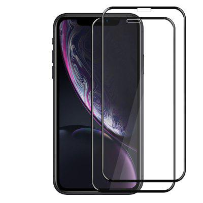 JOFLO 2PCS 3D Volledige Cover Gehard Glas Screen Protector Film voor iPhone XR