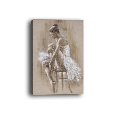Dancing Girl Box Canvas Modern Dance Room Decoration Painting