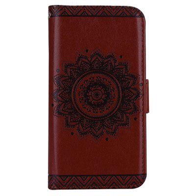 Mentions légales Mandala Flower Stand Wallet Cover pour Samsung Galaxy A8 2018