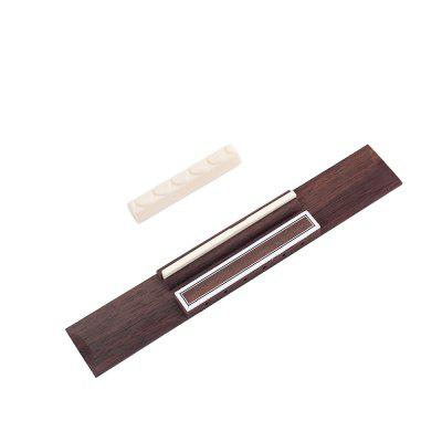 Rosewood Wood Plastic Frame Classical Guitar Bridge and Bone Saddle Nut