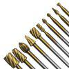 HSS Routing Router Carbide Grinding Engraving Bits Burr Rotary Tool - GOLD