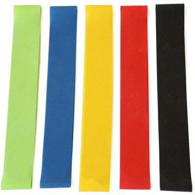 5 Pcs Elastic Resistance Bands Workout Rubber Loop Fitness Gym Strength Training