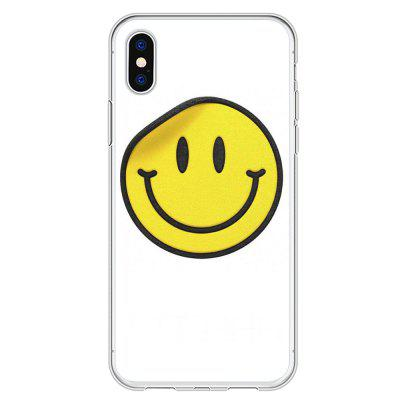 Smiley Face Creative Emoji Soft Pattern Case Cover TPU for iPhone X / XS