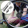 Portable Bicycle Cycling High Pump With Pressure Gauge Tire Inflator - BLACK
