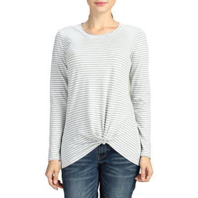 SBETRO Slim Asymmetrical Hem Knitting Pullover Women