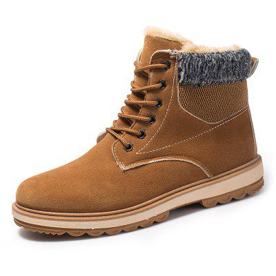 ZEACAVA Men's  Fashion Winter Warm Thickening Boots