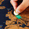 Deluxe Scratch Off World Map Poster Journal Log Giant Of The Gift - Чёрный