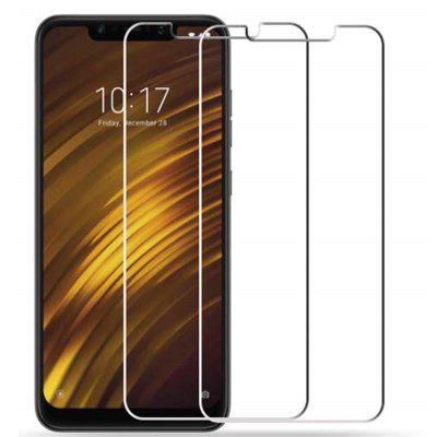 2PCS 2.5D 0.26mm Edge Tempered Glass Screen Protector для Xiaomi Pocophone F1