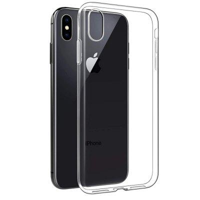 Transparent Soft Silicone Protective Case for iPhone X