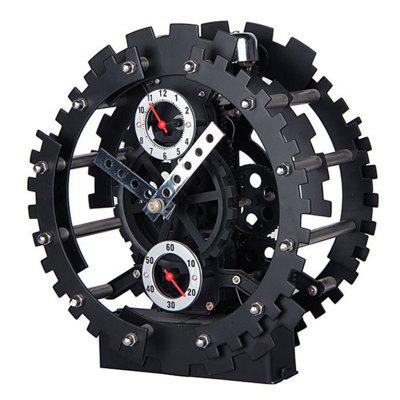 Double Gear Hollow Out Creative Decorative Furnishing Articles Alarm Clock