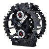 Double Gear Hollow Out Creative Decorative Furnishing Articles Alarm Clock - BLACK