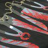 Halloween Decoration Plastic Knives for Home Party - ROSSO RED