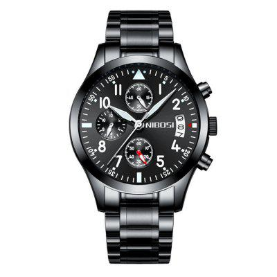 Zegarki Data Chronograf Nibosi Men Luxury Sport