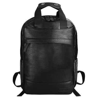 PU Leather Laptop Backpack with USB and Headphone Ports for Men Travel G00326