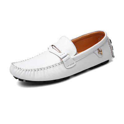 Mode Leder Schuhe Herren Slipper Slip on