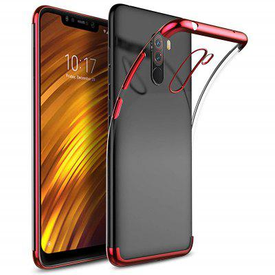 Transparent Plating Soft TPU Case Cover for Xiaomi Pocophone F1