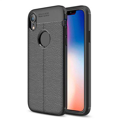 Lichee Pattern Soft TPU Comfortable Touch Feeling Case for iPhone XR