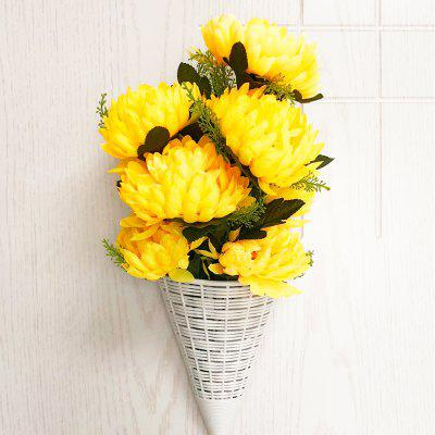 Yellow Snapdragon Decorative Artificial Flower Bouquet