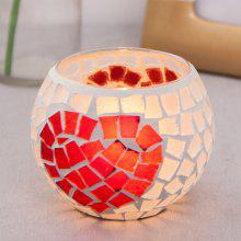 Heart Design Glass Candle Holder Home Decor Birthday Party Wedding Decoration