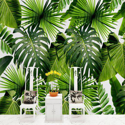 Green Big Leaves Wallpaper Wall Sticker Mural