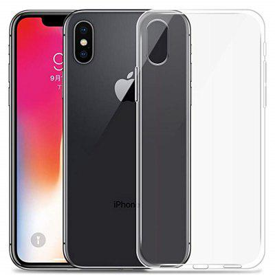 Transparente Soft TPU Case Capa para iPhone XS