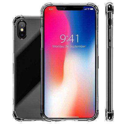 Vier hoeken Drop Clear Shockproof Soft TPU Case Cover voor iPhone XS Max