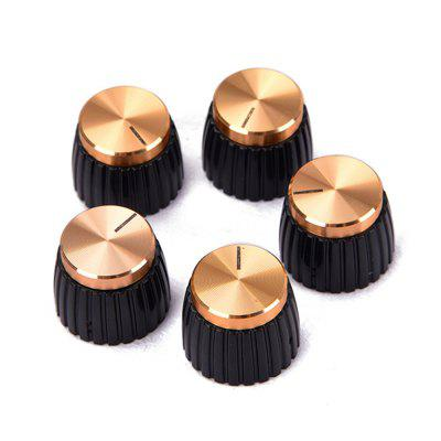 5PCS Guitar AMP Amplifier Knobs Black/Gold Cap