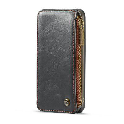 CaseMe Dachable 2 in 1 Business Zipper Leather Wallet Cover for iPhone 6s / 6