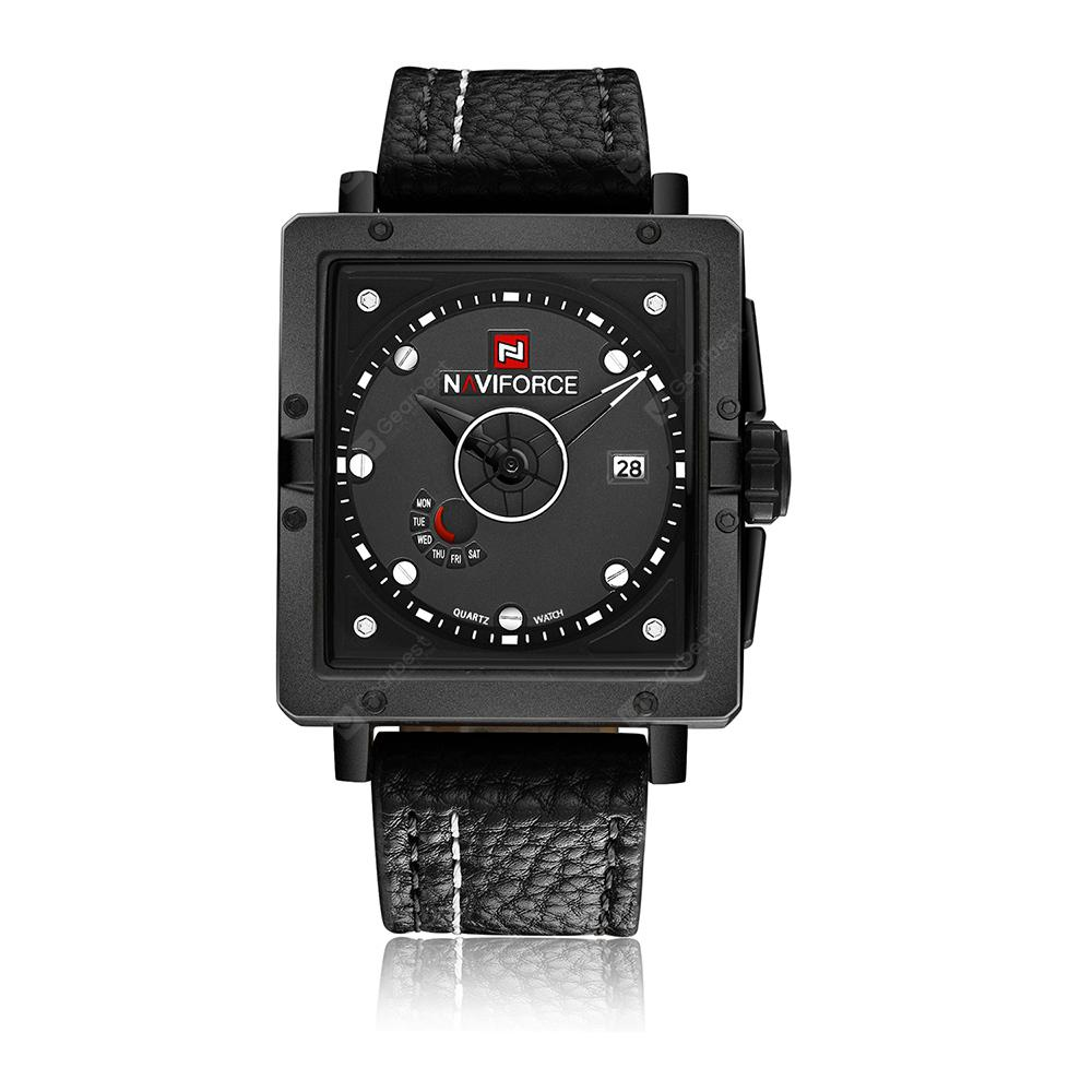 NAVIFORCE Sport Square Fashion Quartz Men's Watch