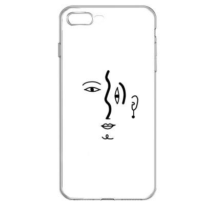 Eyes Transparent TPU Protective Soft Case for iPhone 7 Plus