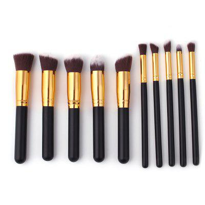 10 PCS Makeup Brush Set Wood Handle
