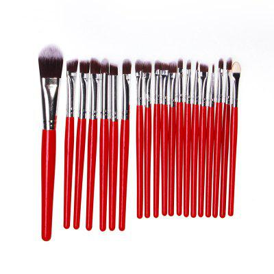 20 PCS Makeup Brush Set Wood Handle