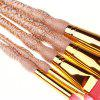 High Quality 5 PCS Makeup Brush Set Wood Handle - BLANCHED ALMOND