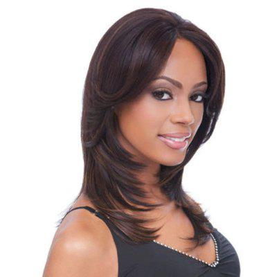 Central Parting Hair Slim Face Gradient Ramp Wig