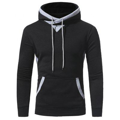 Applique Accessories Men's Casual Hooded Sweater Coat