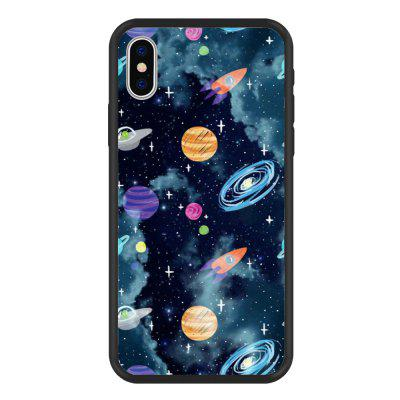 Night Sky Galaxy Series PC Silicone Soft and Hard 2 in 1 case for iPhone X