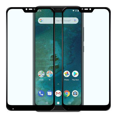 Mrnorthjoe 2PCS Full Screen Coverage Tempered Glass Film for Xiaomi Mi A2 Lite