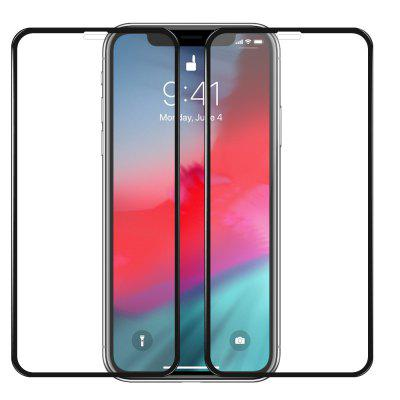 Mrnorthjoe 2PCS 3D Curved Edge Tempered Glass Screen Protector for iPhone XR