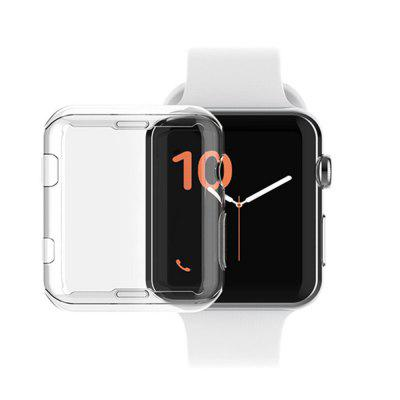 Etui de Protection Clair Ultra Mince en TPU Souple pour Apple Watch Séries 4