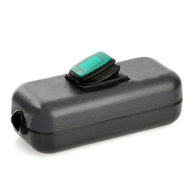 Water Resistant In Line On Off Rocker Switch  Green Light for Electric DIY