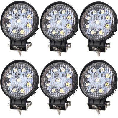 6 Pieces 27W 6000K Engineering Trucks Agriculture  Special Trucks LED Work Light