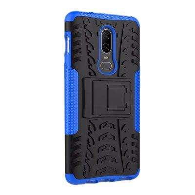 Shockproof with Stand Back Cover Armor Hard PC for One Plus 6 Case