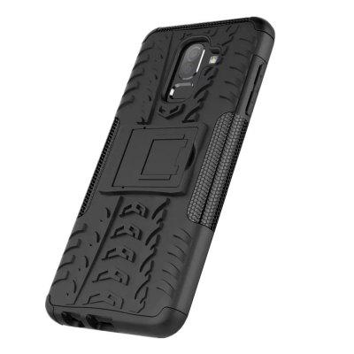Shockproof with Stand Back Cover Armor Hard PC for Samsung Galaxy j8 2018 Case