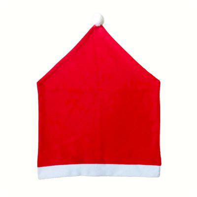 Santa Hat Chair Covers Set Red of 4 PCS