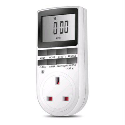 Digital LCD Display UK Plug in Programmable Timer Switch Socket 24hr 7Day