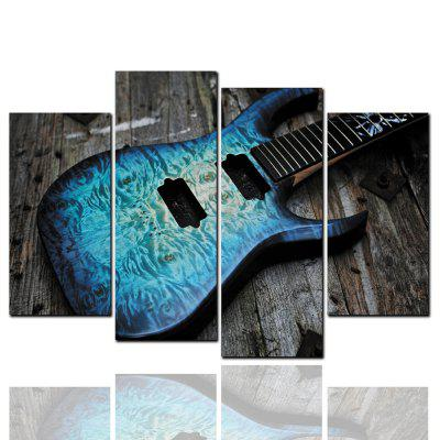 4 Pcs HD Inkjet Paints Guitar Music Equipment Decorative Painting