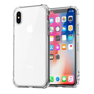 SZKINSTON Custodia posteriore in TPU Super Shockproof Soft Cover a quattro angoli per iPhone XR