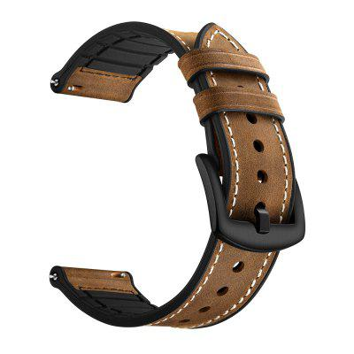 Genuine Leather Silicone Watch Strap for Amazfit Bip Band