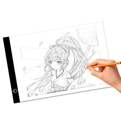 Einstellbare Helligkeit LED Art Stencil Drawing Board A4 Tablet Pad
