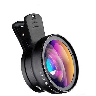 APEXEL Cell Phone Camera Lens Kit 0.45X Super Wide Angle + 15X Super Macro